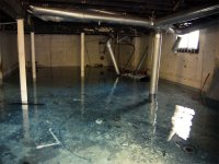 Restoration Project: Flood Disaster in Basement Caused by ...