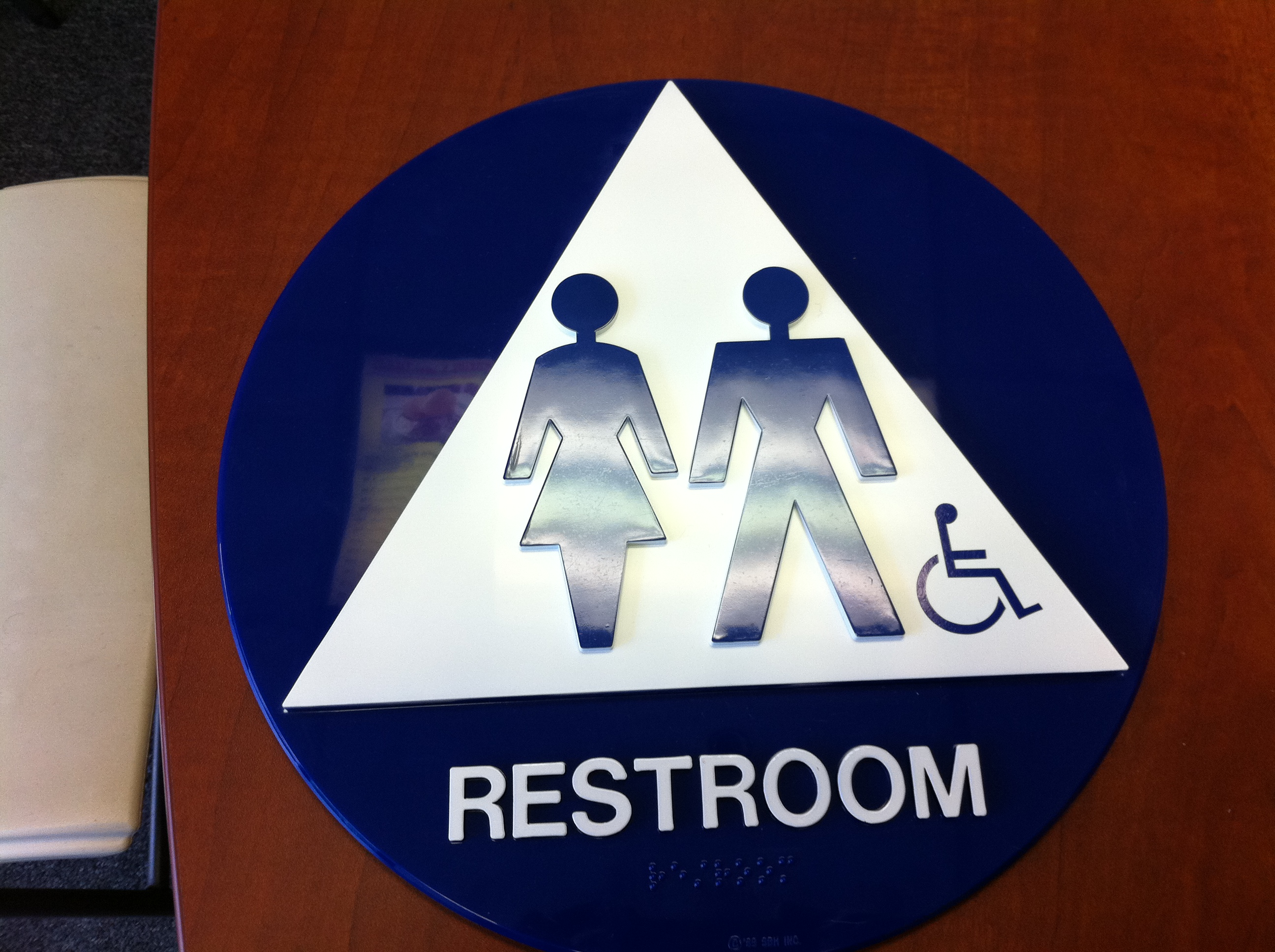 ADA signs Restroom and Exit signs