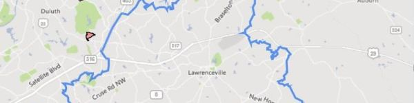 Map Of Lawrenceville Georgia
