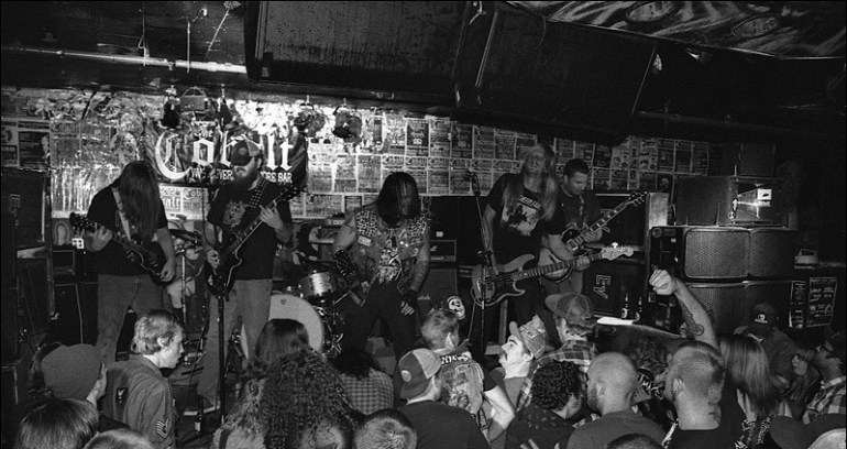 image taken from Mike Chow of Spreadeagle's last show in The Cobalt