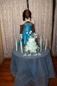 SWEET 16 PRINCESS POSING ALONGSIDE HER BIRTHDAY CAKE AND ...