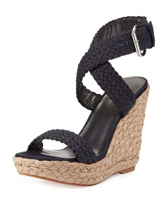 Stuart Weitzman Alex Crochet Wedge Sandal Now $260.00 Orig $325.00