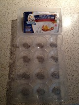 3 - recycling an egg container as molds