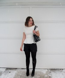 Peplum and leather