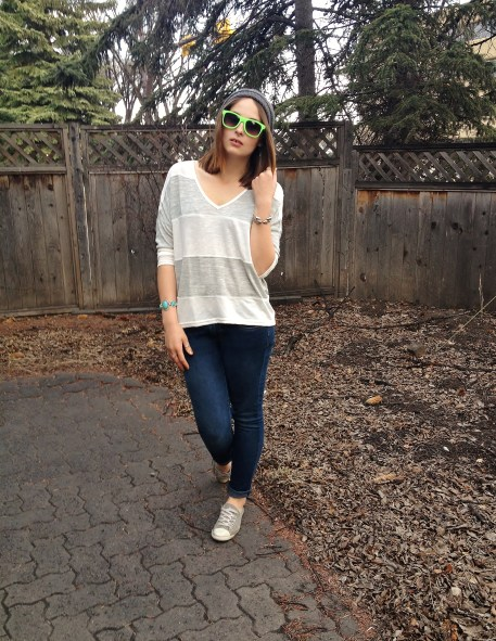 comfy casual in shades of grey