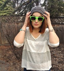 wardrobe staples - beanie, sunnies, and slouchy stripes