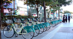 2012: Changwon, Republic of Korea. Changwon's Nearby Useful Bike, Interesting Joyful Attraction (NUBIJA) Project.