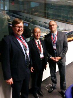 From left-to-right: Mr. Torben Heinemann (Leipzig, Germany), Mr. Jun Nakamura (Toyama, Japan), and Mr. Mark Boysen (Saanich, Canada)