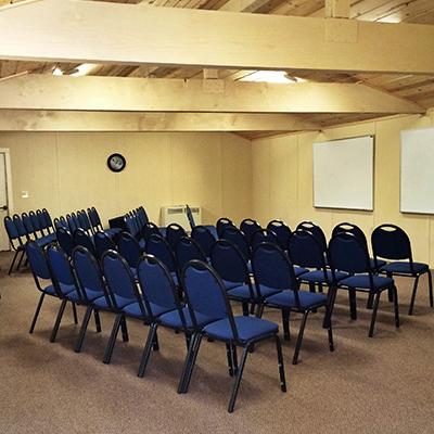 Camp MayMac meeting room