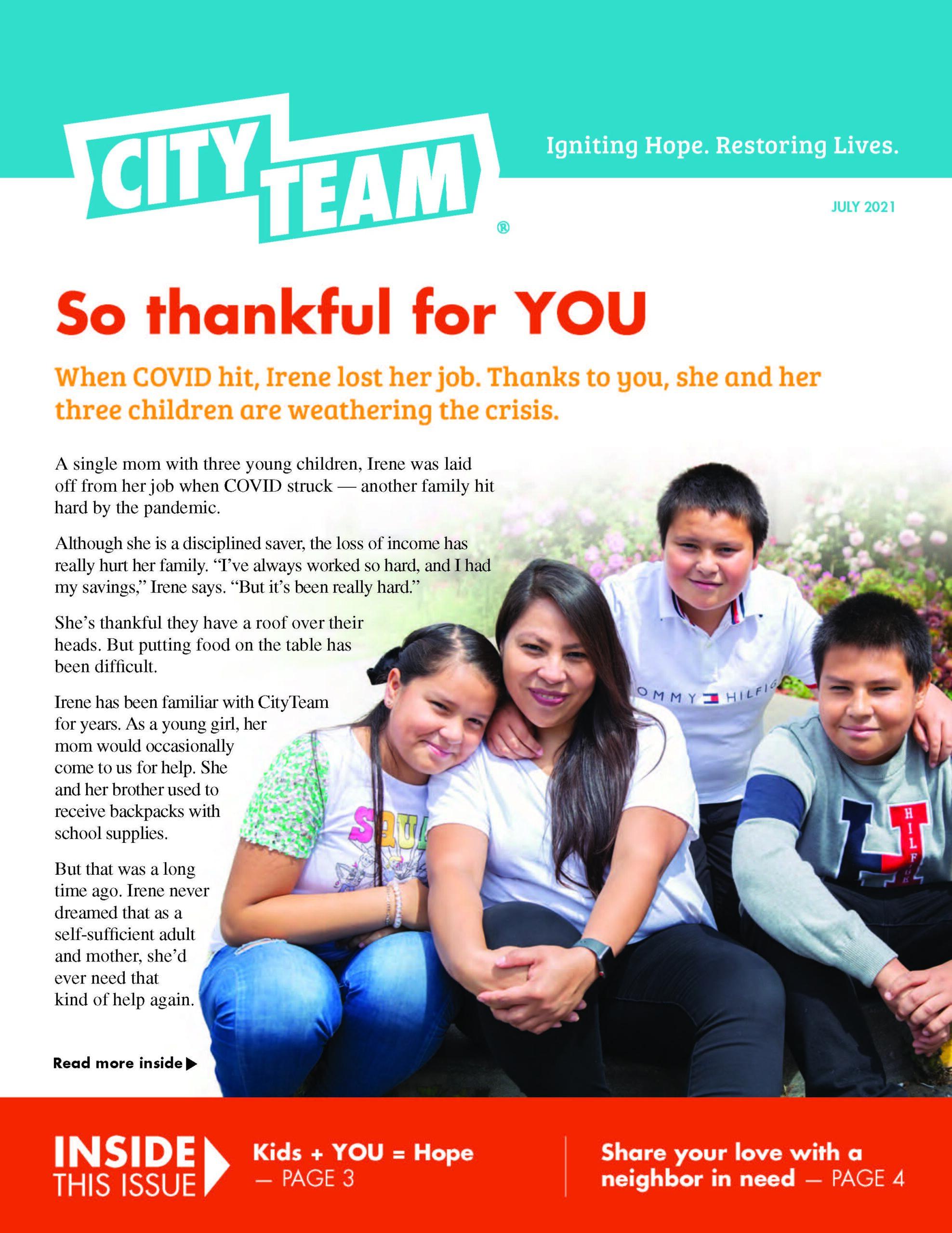 CityTeam Newsletter