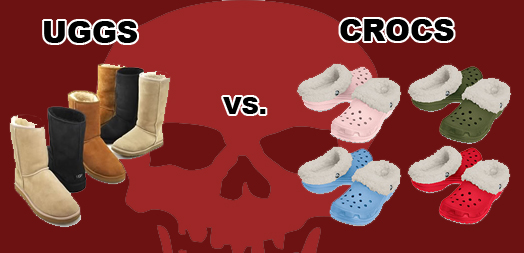 eaa33f3bd11 CLOTHING CRIME SHOWDOWN: UGGS VS. CROCS – The City That Breeds