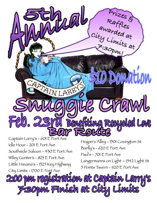 snuggie bar crawl