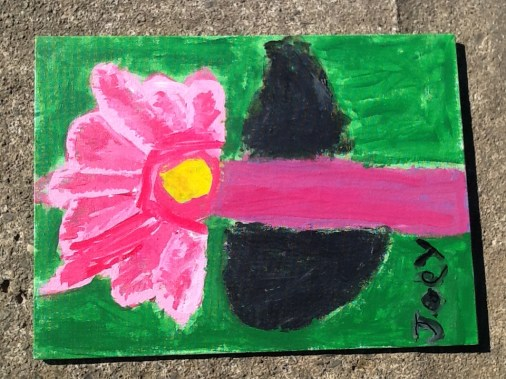 Canvas Flower Art 008