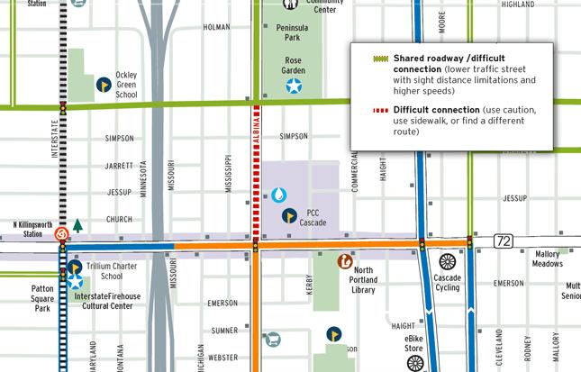 Portland bike map