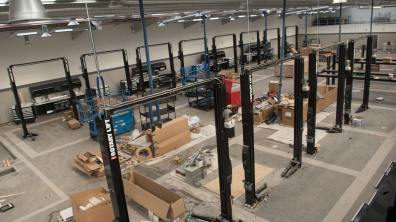 The new workshop will provide space for 18 ramps. Photo: Steve Smailes for Lincolnshire Business