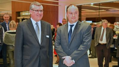 Ben Duckworth, Managing Director (right) and Andrew Shaw Head of Business for Duckworth Jaguar Land Rover.