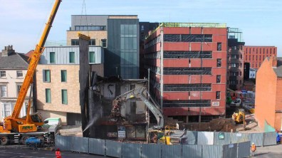 Demolition works as part of the Viking House development. Photo: Jackson & Jackson Developments