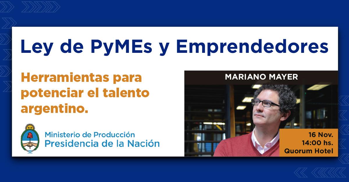 Conferencia Ley de PyMEs y Emprendedores en Quorum Córdoba