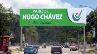 Entrada al parque Hugo Chávez