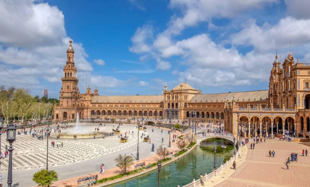 Foto de la Plaza de España en la ciudad de Sevilla