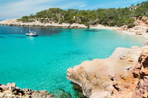 Playa de Cala Saladeta en Ibiza