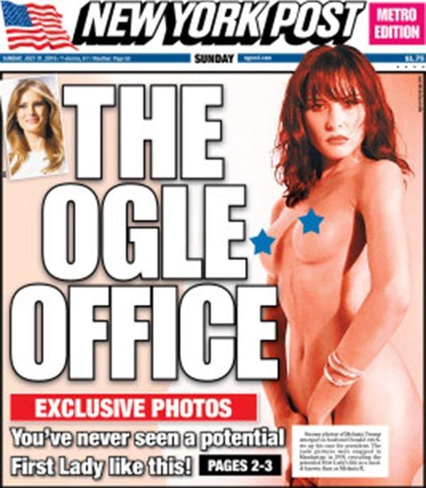 Una de las portadas que el New York Post le dedicó a Melania, para enfurecer a Donald Trump.