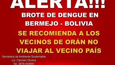 Photo of LA MUNICIPALIDAD DE ORÁN RECOMIENDA NO VIAJAR A BERMEJO (BOLIVIA)