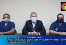 Photo of SOSPECHOSO DE CORONAVIRUS, VECINO ORANENSE IDENTIFICADO Y CONTROLADO