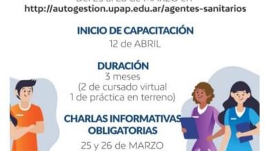 Photo of LA UPAP COMENZARÁ A DICTAR EL CURSO DE FORMACIÓN PARA AGENTES SANITARIOS