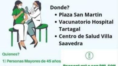 Photo of #Tartagal- Campaña de Vacunación en Plaza San Martin