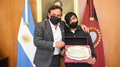 Photo of Gustavo Sáenz recibió a Maxi Sánchez