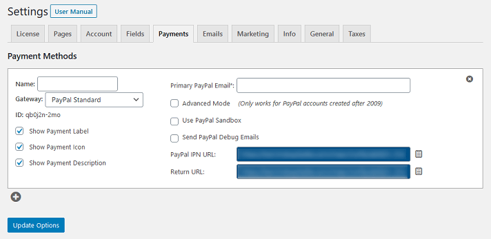 configuración de memberpress - pagos