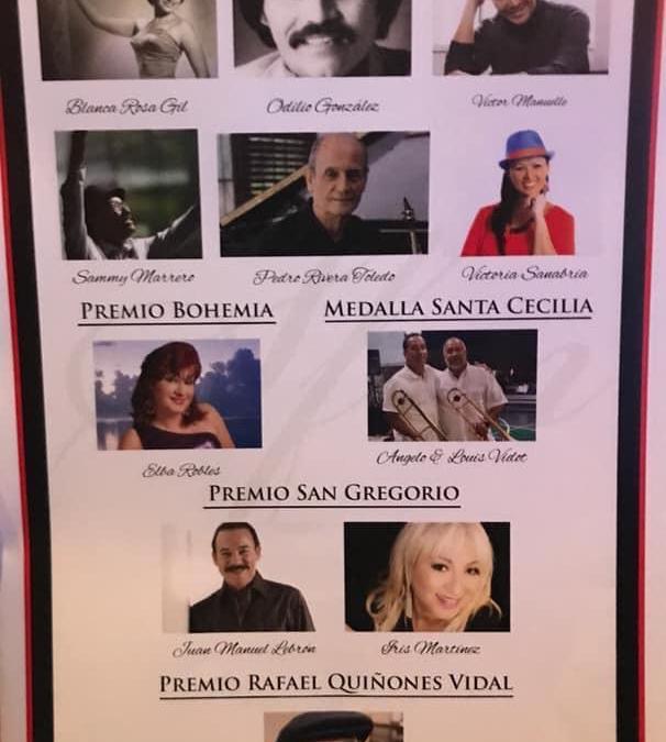 Gala de Premacion y Exaltacion Del Salón de La Fama De La Música en Puerto Rico Por