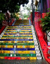 Escadaria Selaron, en Lapa. 2009
