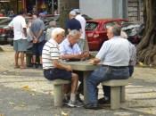 Juego de naipes en Largo do Machado. 2016