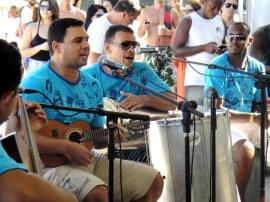 Roda de samba del bloco Meu Bem, Volto Já!, en Copacabana. 2014