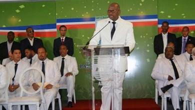 Alfredo Martínez da su discurso de toma de posesión