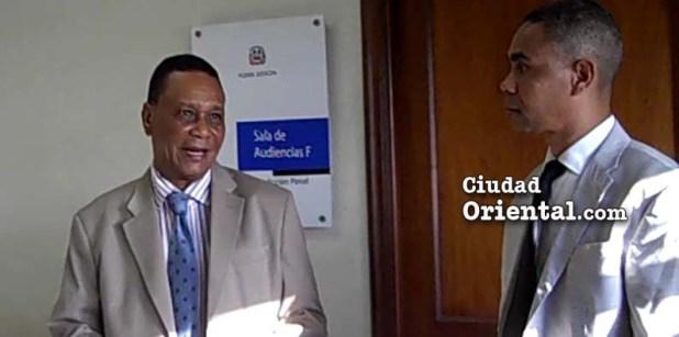 Julio Cepeda Ureña y el abogado Rigoberto Rosario