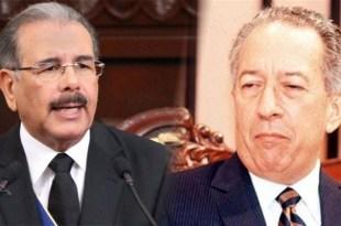 Danilo Medina (i ) y Jorge Blanco