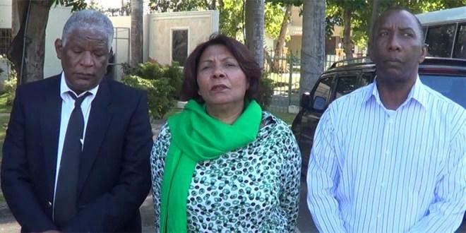 Manuel María Maercedes, Luz Eneida Mejía y Jesús Adón