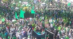 Vista parcial de la marcha contra la impunidad y corrupción