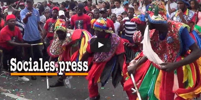 Espectacular actuación del Gagá ante el alcalde sanluisero de Santo Domingo Este