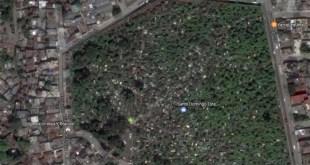 Vista aérea de la mayor guarida a cielo abierto de delincuentes en SDE.