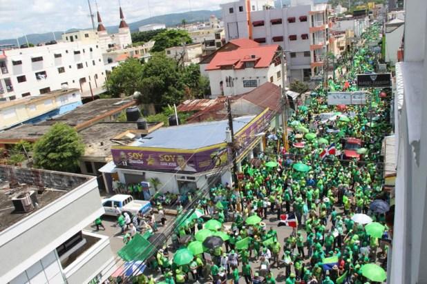 Marcha Verde San Francisco de Macorís / Foto cortesía de Vigilanteinformativo.com