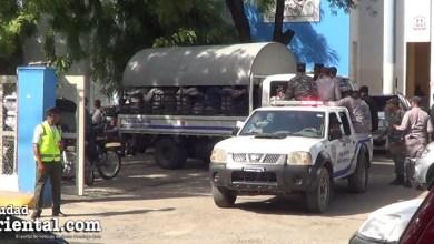 Policías en Azua para la Marcha Verde del Su