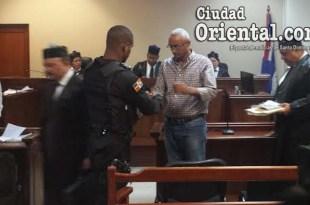 Ericsson de los Santos Solís, luego de la sentencia.