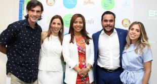 José Miguel Paliza, Sybeles Cedeño, Mariel Ledesma, César Gutiérrez y Dominique Backahausen.