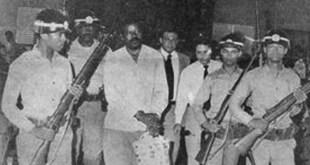 El Men es llevado preso durant e uno de los gobiernos de Joaquín Balaguer