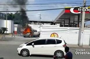 Fuego dentro de la planta envasadora GLP Credigas de Los Mina