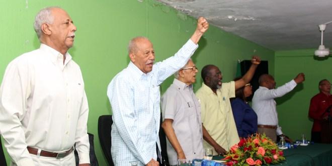 Ex miembros y dirigentes de la Línea Roja del 14 de Junio